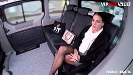 FUCKED IN TRAFFIC - #Eveline Dellai #Matt Ice - Young Uber Driver Hope On The Van And Fucks Hard With A Sexy Czech Babe