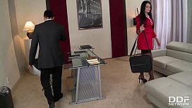 Busty Milf Emma Leigh - Seduced in the Office for Rough Fucking