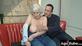 Norma moans as Rob softly pounds her   vintage cunt