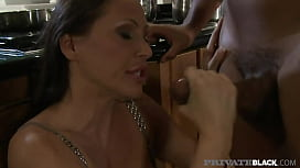 Private Black - Kitchen Cunnilingus With Busty Milf Mandy Bright &amp_ BBC