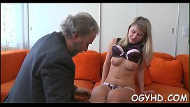 Young sweetie drilled by...