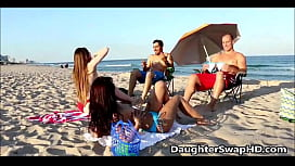 Two Dad's At Beach Decide To Swap Teen Daughters - DaughterSwapHD.com xxx video