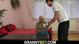Guy picks up old blonde granny