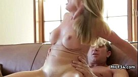Horny big-tit MILF slut fucks her daughter'_s bf'_s