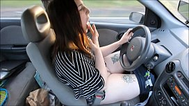 Fingering Myself While Driving...