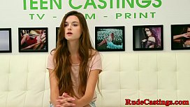 Casting teen screwed hard...