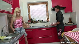 Old blonde seduces s. in law