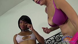 Ebony SLUT dominated by...