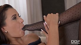 Crazy Sexy Teen Femdom Foot Fetish with Alexis Brill & Cindy