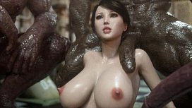 3D Superheroine Gangbanged by...