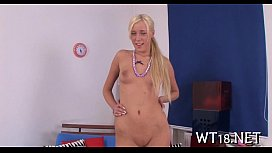 Legal age teenager blond...