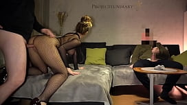 amateur couple fucking while their cuckold friend is watching - projectfundiary