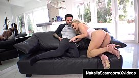 Naked Nympho Natalia Starr Blows, Bangs &amp_ Creams On A Cock!