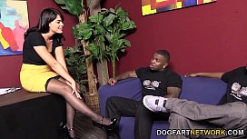 Ava Dalush Gets Two Black Cocks In A Restroom