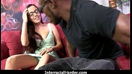 Hot girl with big tits gets fucked hard by black in her perfect pussy 10