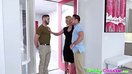 Daddy and StepSon Fucking Hot Mom. FamilyOrgasm.com