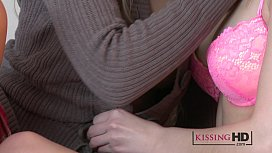 Kissing HD Innocent blonde...
