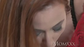 MOM Sexy redhead sucks...
