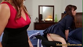 Glamcore milf sixtynined by her stepdaughter
