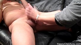 My stepmom oily  handjob with cumshot at the end