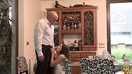 DADDY4K. Nice dad and young girl sex finishes with cumshot on her ass