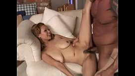 MILF with a hairy pussy gets fucked by a young strong hunk
