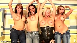 Four shebabes in tight...