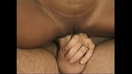 Hot male licks a hairy pussy on the couch