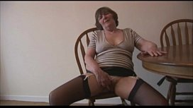 Mature hairy granny strips...