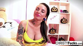 Christy Mack dresses up...