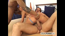 Hot blonde gets dp fucked by 2 big dicks HC-8-01