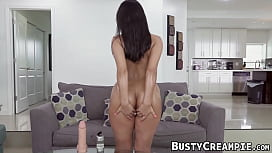 Busty babe Violet Myers shakes her ass while riding cock