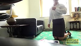 Mature UK slut roughly fucked and facialized by maledom