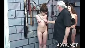 Sweet angel enjoys private moments of amateur bondage