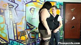 Stockinged plumper pussylicked and...