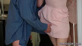 Daddy Gets Rough And Teen Wet Dream Risky Birthday Capers With