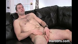 Handsome guy massages his...