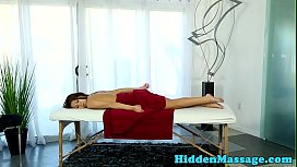 Hairy babe fucked by masseur after footjob