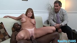 Busty mature fucked by...