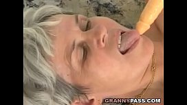 Hairy Grandma Takes Huge...