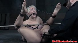 Restrained pierced sub tormented...