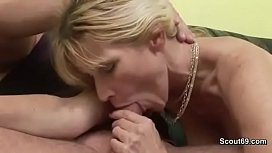 Mature with Hairy Pussy Fuck Men Hard and Cum in Mouth