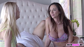 Stepdaughter finds her MILF mom fucking and joins her