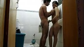 Taking bath with neighbour...