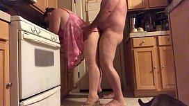 Wife in kitchen...