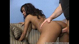 Black babe getting her...