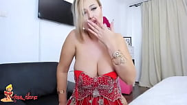 Gorgeous Blonde MILF with Huge Perfect Tits Masturbates