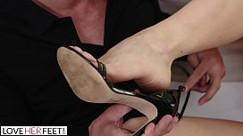 LoveHerFeet - Lusty MILF Gets...