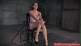 Chained bdsm sub clamped...