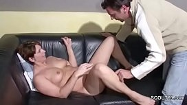 German MILF Caught Masturbate...